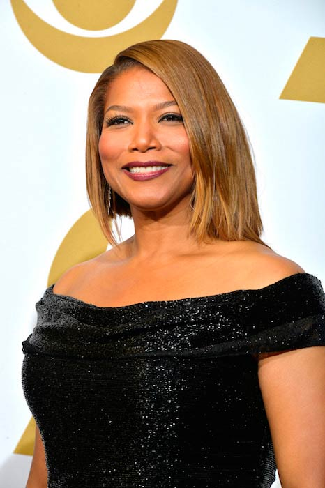 Queen Latifah in the press room for the 56th Grammy Awards in California in January 2014