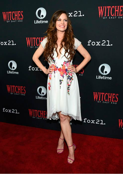 Rachel Boston at the Witches of East End Season 2 premiere in July 2014