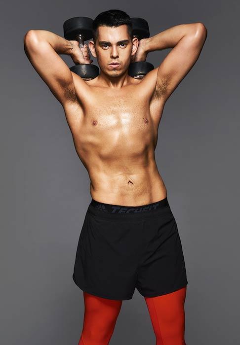 Raymond Gutierrez shirtless body after weight loss