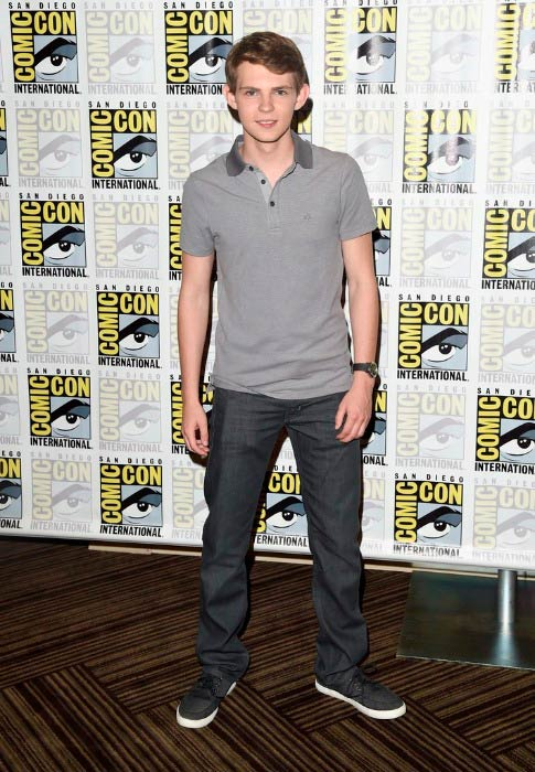 Robbie Kay at the Heroes Reborn Press Room during Comic-Con International in July 2015