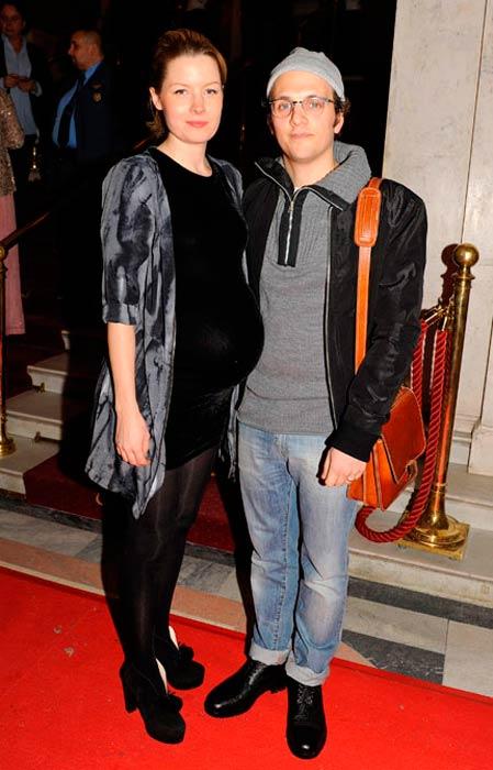 Salem Al Fakir and his pregnant wife Caroline Lavenius at a public event in 2012