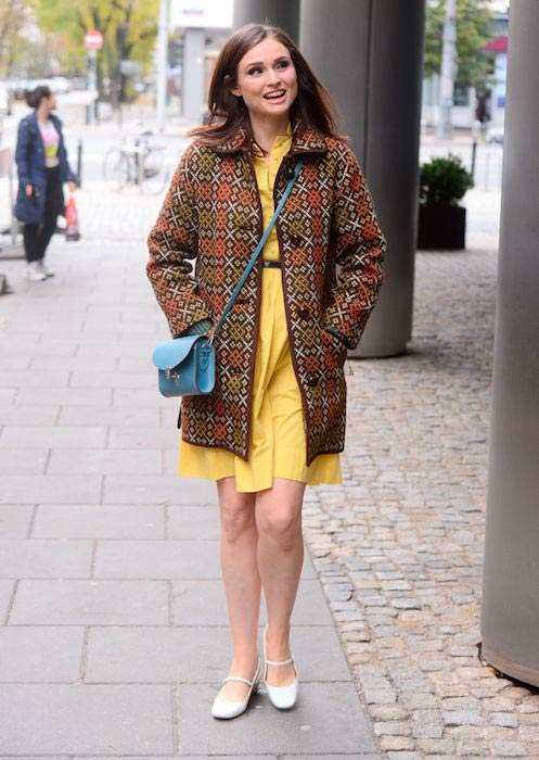 Sophie Ellis-Bextor while leaving Good Morning TVN in Warsaw in October 2016