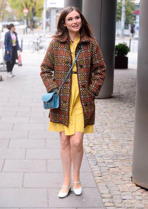 Sophie Ellis-Bextor while leaving Good Morning TVN in Warsaw in October 2016