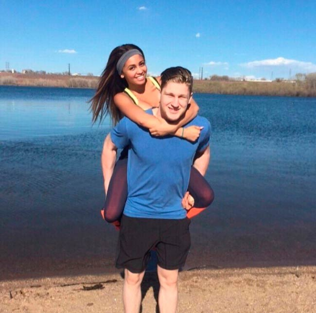 Vanessa Morgan and Nathan MacKinnon in picture shared on social media in 2015