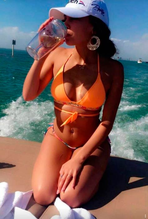 Vanessa Morgan in bikini in a picture shared on social media in January 2017