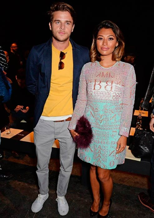 Vanessa White and Gary Salter at the Oliver Spencer show during London Collections: Men AW15 in January 2015