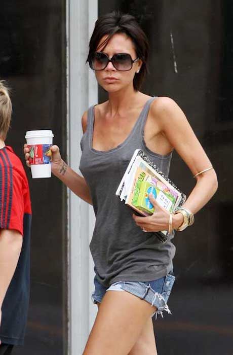 Victoria Beckham always keeps herself hydrated