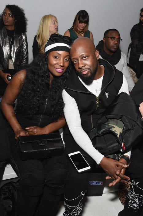 Wyclef Jean and Marie Claudinette at the Rookie USA fashion show during New York Fashion Week in February 2017
