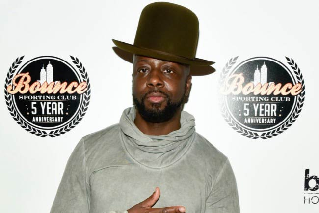 Wyclef Jean at the Bounce Sporting Club Celebrates Its 5th Anniversary event in September 2016