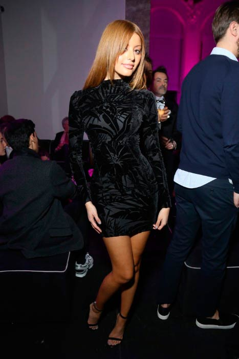 Zahia Dehar at the launch party of the New Fragrance 'La Diva' And 50th Anniversary of Emanuel Ungaro in January 2016