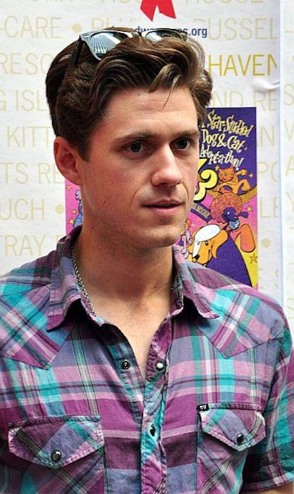 Aaron Tveit at 13th Annual Broadway Barks Benefit on July 9, 2011