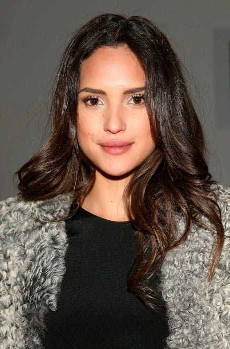 Adria Arjona at the Cushnie Et Ochs runway show during MADE Fashion Week in February 2015