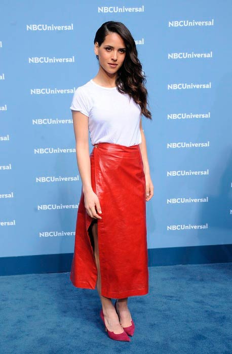 Adria Arjona at the NBC Universal Upfront Presentation in May 2016