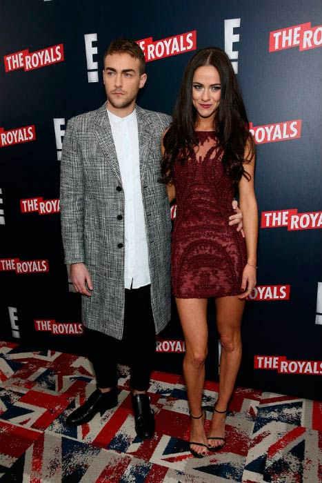 Alexandra Park and Tom Austen at The Royals New York series premiere in March 2015