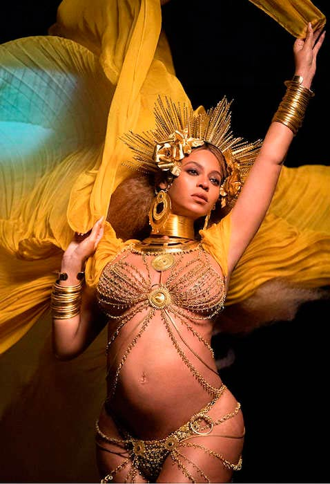 Beyonce while she was pregnant