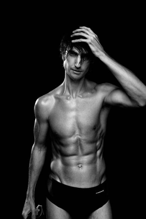Brendan Brazier shirtless in a modeling photoshoot done in May 2013 for Origin Magazine