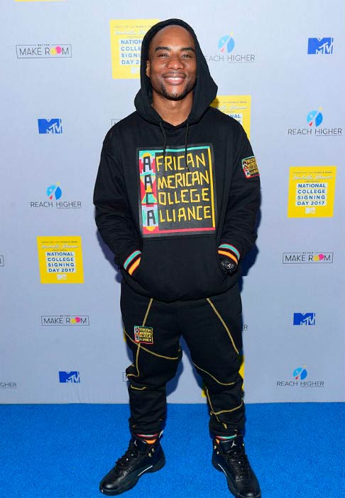 Charlamagne Tha God at the MTV's College Signing Day with Michelle Obama in May 2017