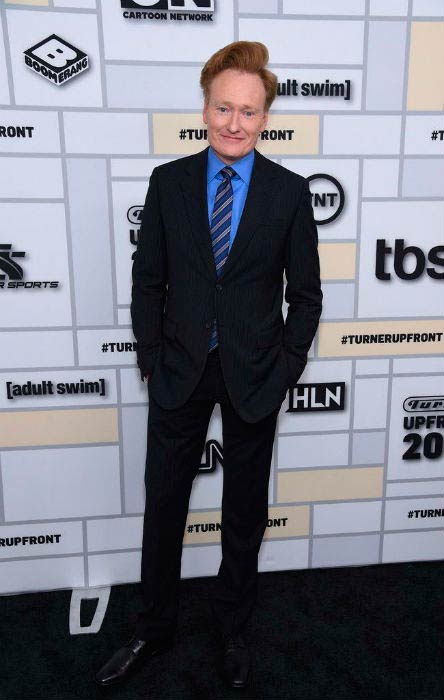 Conan O'Brien at the Turner Upfront event in May 2015
