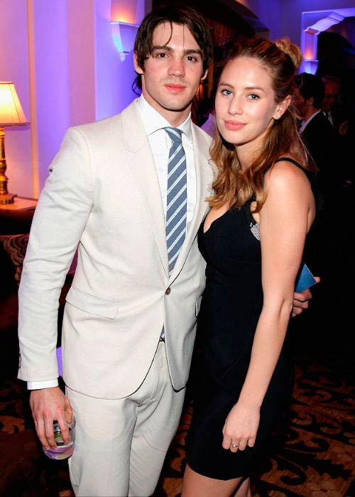 Dylan Penn and Steven R. McQueen at the Help Haiti Home Gala in January 2014