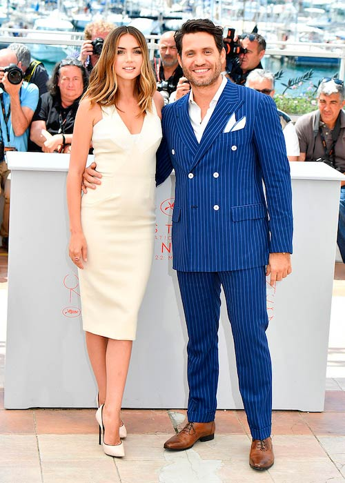 Édgar Ramírez with rumored girlfriend Ana de Armas at Cannes Film Festival in France in May 2016