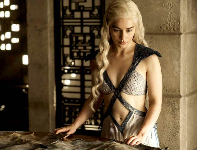 "Emilia Clarke as Daenerys Targaryen in a still from ""Game of Thrones"""