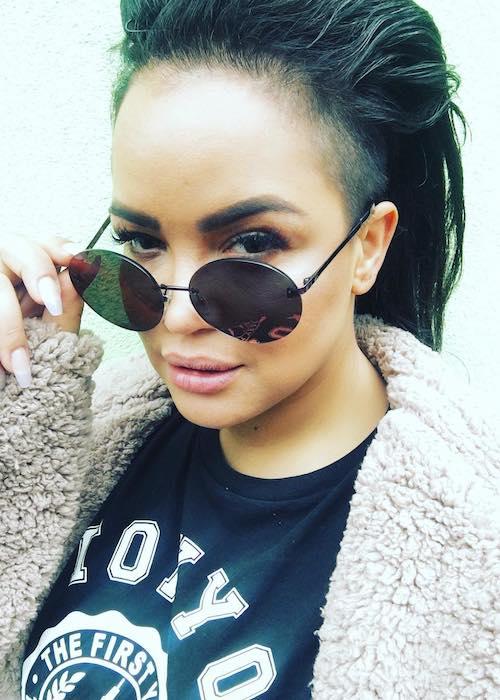 Eva Simons in an Instagram selfie in July 2017