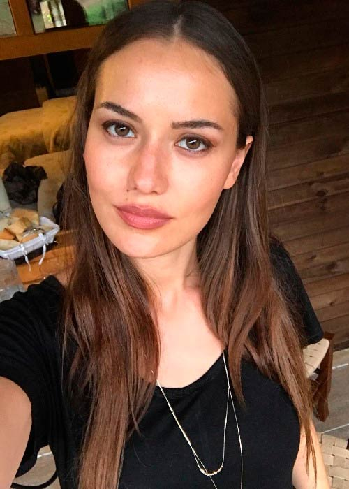 Fahriye Evcen in a picture shared on her Instagram in August 2017