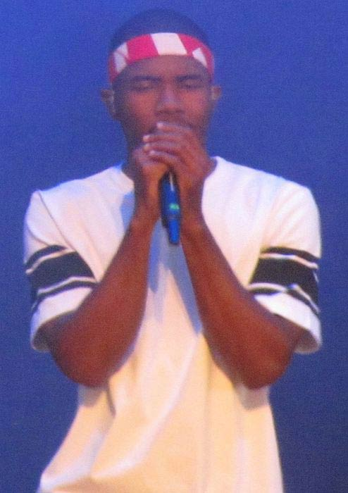 Frank Ocean during the Wireless 2013 performance