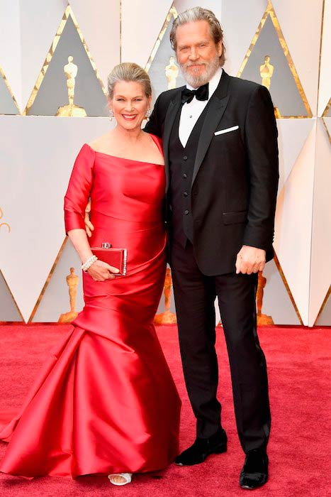 Jeff Bridges with wife Susan Geston during the 2017 Academy Awards