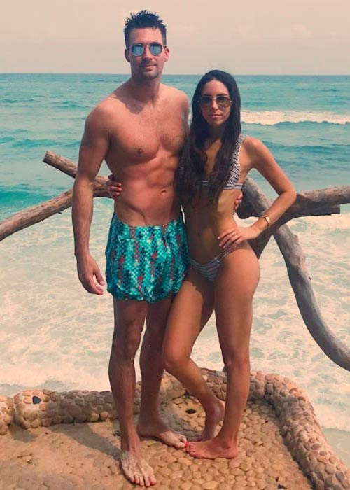 Jen Selter and James Maslow in a picture shared on his Instagram in April 2017
