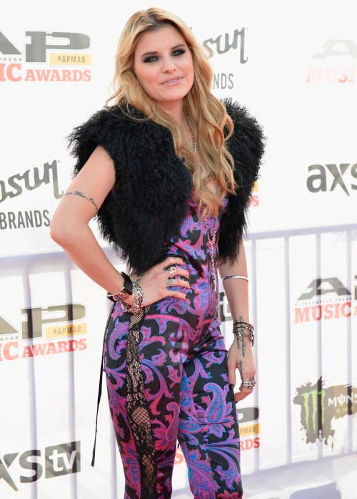 Juliet Simms at the Gibson Brands AP Music Awards in July 2014
