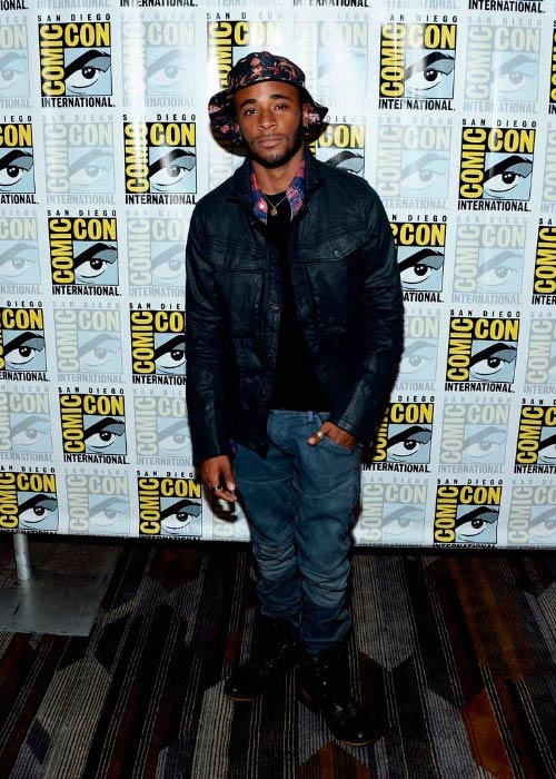 Khylin Rhambo at the Teen Wolf press line during Comic-Con International in July 2016