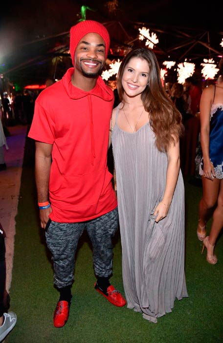 King Bach and Amanda Cerny at the annual Midsummer Night's Dream Party in August 2016