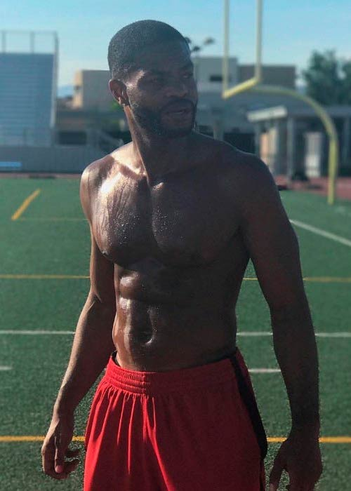 King Bach shirtless in a picture shared on his social media in July 2017