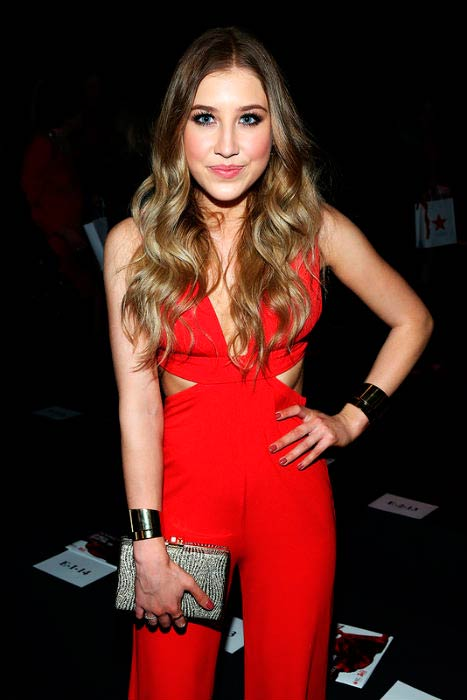 Maddie Marlow at The American Heart Association's Go Red for Women Red Dress Collection presentation event in February 2016