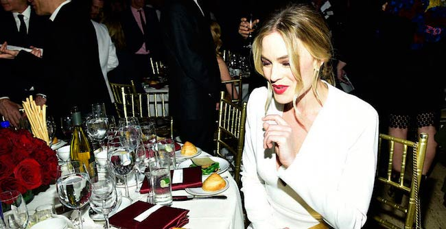 Margot Robbie at a party