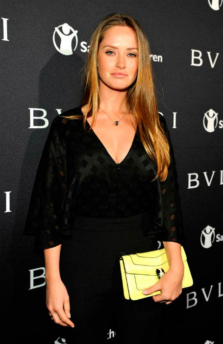 Merritt Patterson at the BVLGARI And Save The Children Pre-Oscar Event in Beverly Hills in February 2015