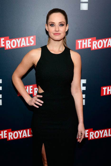 Merritt Patterson at The Royals New York series premiere in March 2015
