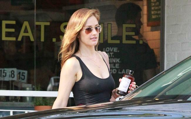Minka Kelly at Food Lab in Los Angeles in July 2017
