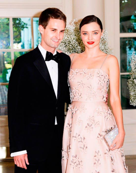 Miranda Kerr and Evan Spiegel during their wedding