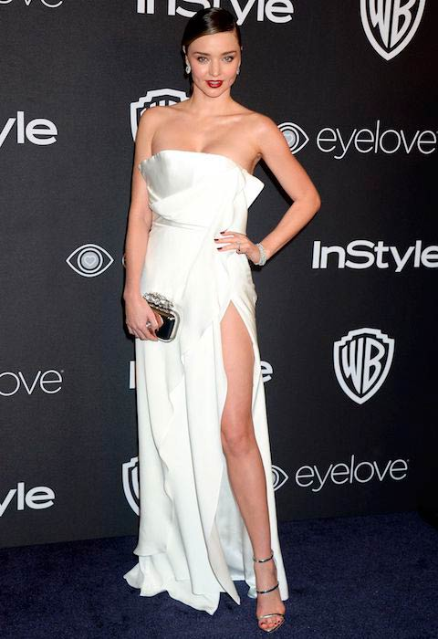 Miranda Kerr at 2017 InStyle and Warner Bros Golden Globes After Party