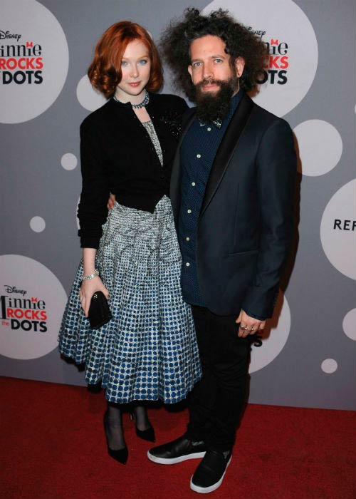 Molly Quinn and Elan Gale at the Minnie Mouse Rocks the Dots Art and Fashion Exhibit in January 2016