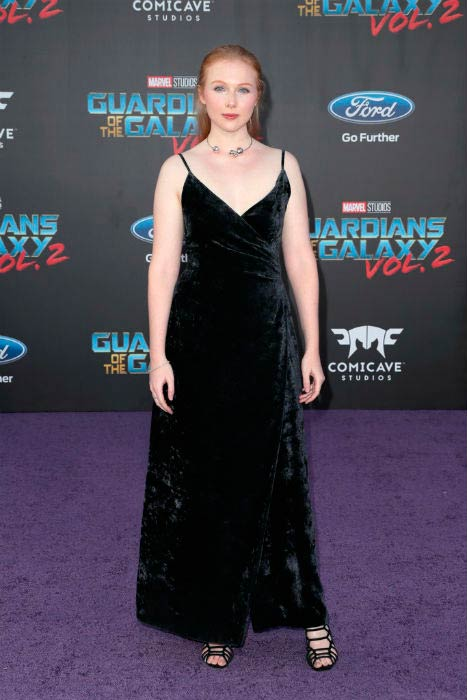 Molly Quinn at the premiere of Disney and Marvel's Guardians of the Galaxy Vol. 2 in April 2017