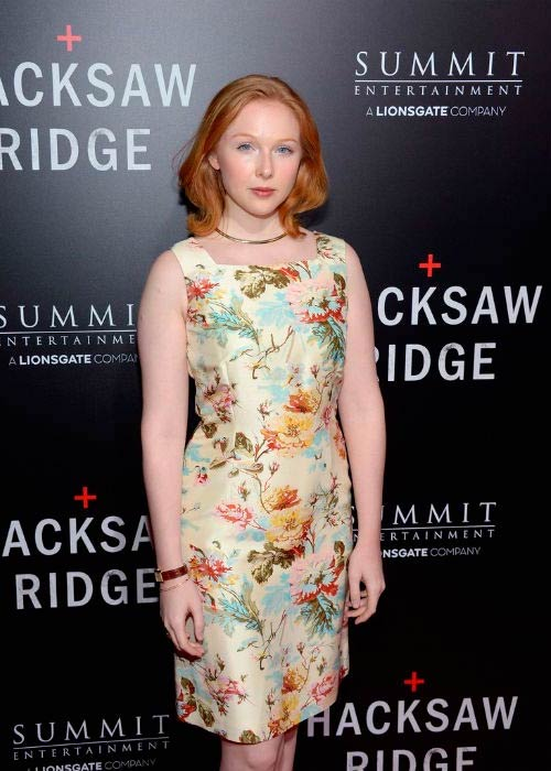 Molly Quinn at the screening of Summit Entertainment's Hacksaw Ridge in October 2016