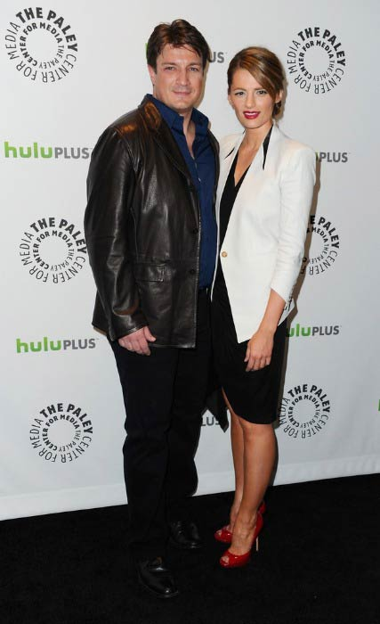 Nathan Fillion and Stana Katic at the Media's PaleyFest 2012 honoring Castle event in March 2012