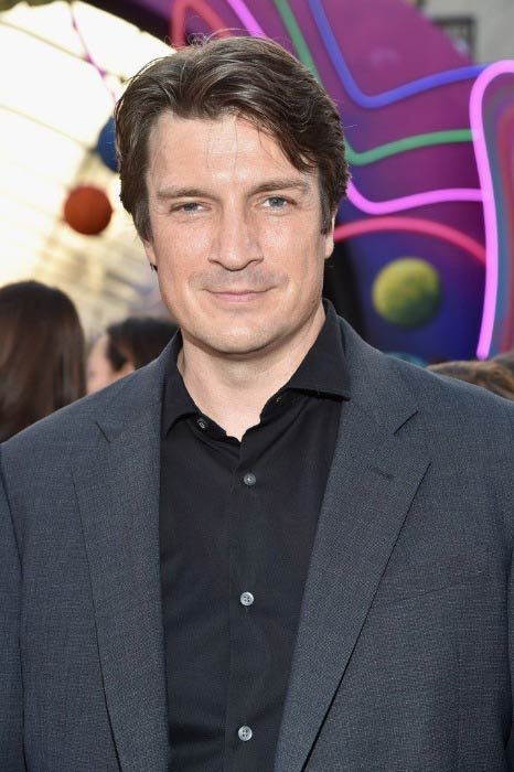 Nathan Fillion at the premiere of Disney and Marvel's Guardians Of The Galaxy Vol. 2 in April 2017