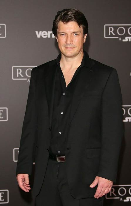 Nathan Fillion at the premiere of Rogue One A Star Wars Story in December 2016