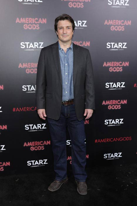 Nathan Fillion at the premiere of Starz's American Gods in April 2017