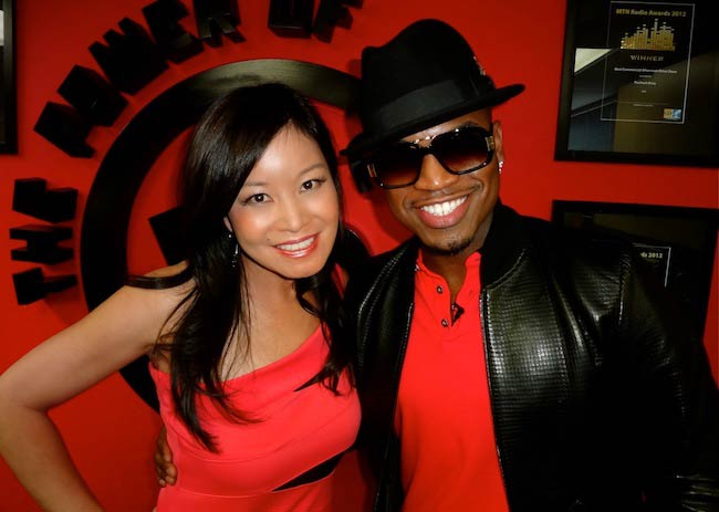 Ne-Yo and 5 FM Hollywood Reporter Jen Su in South Africa in January 2013