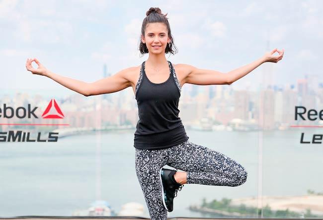 Nina Dobrev workout at Reebok x Les Mills event